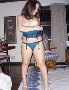 Gallery for Thick Thighs in Teal Lingerie